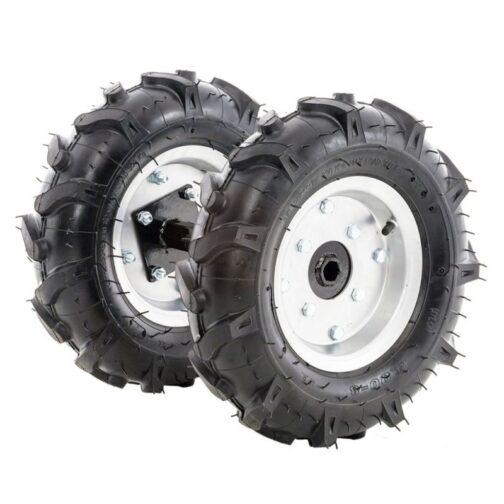 Комплект гумени колела TS 103 400x8 с адаптер
