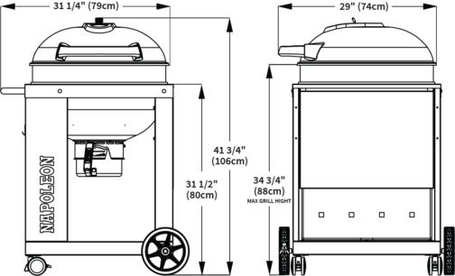 Барбекю На Дървени Въглища Napoleon PRO22K-CART-2