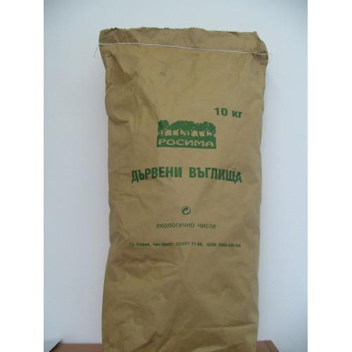 Дървени въглища 10 кг Микс (Дъб, Бук и Габър)