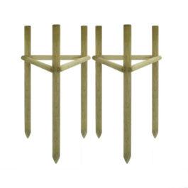 Импрегнирани дървени колове Ф6 2,5 м